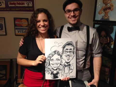 Alex Hughes, Caricaturist for Montague Retreat Center