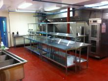 Caterers LOVE our spacious new geo-thermally cooled kitchen!