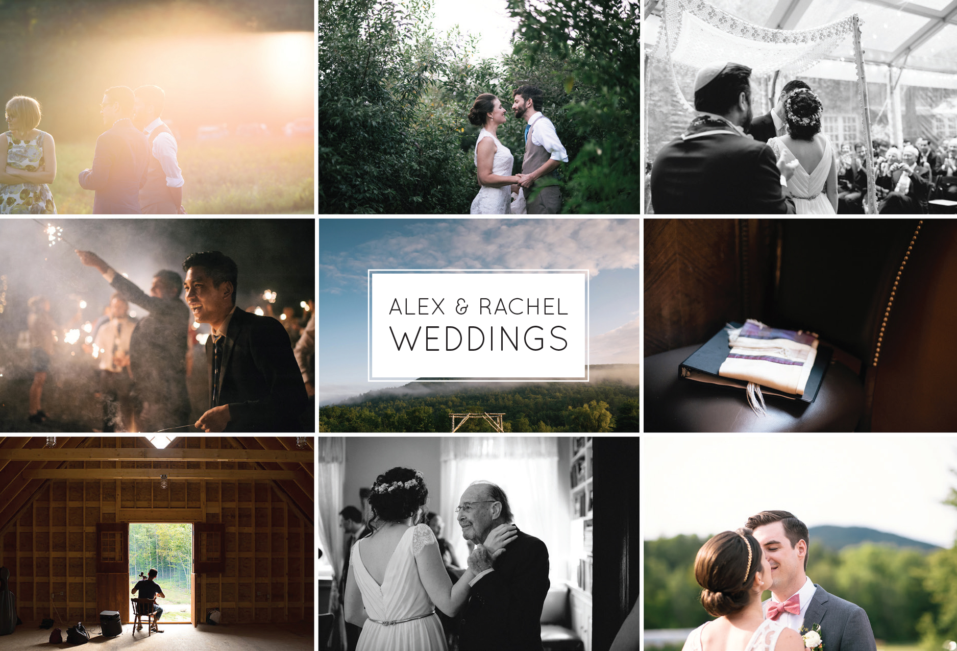 Alex & Rachel Weddings, Photograhers for Montague Retreat Center