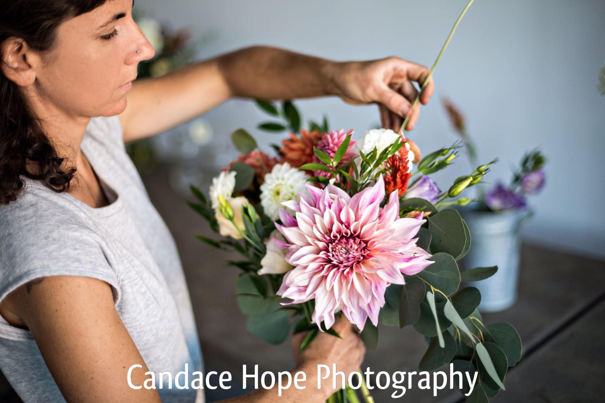 Wild Rose Farm, Danielle Smith, Florist for Montague Retreat Center